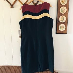Vintage Dresses - Silk & Linen Minimalist Midi Dress